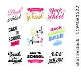 set of welcome back to school... | Shutterstock . vector #1194061522