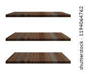 3 wood shelves table isolated... | Shutterstock . vector #1194064762