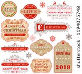 collection of elegant christmas ... | Shutterstock .eps vector #1194075748