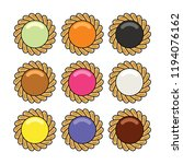 vector jam and chocolate pie... | Shutterstock .eps vector #1194076162