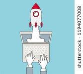 startup   line design. rocket...   Shutterstock .eps vector #1194077008