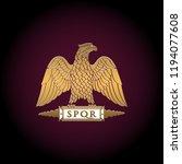 logo of the roman eagle. | Shutterstock .eps vector #1194077608