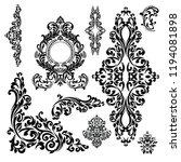 set of oriental vector damask... | Shutterstock .eps vector #1194081898