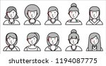 set of women icons on white... | Shutterstock .eps vector #1194087775