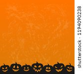template of halloween card with ... | Shutterstock .eps vector #1194090238