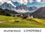 awesome alpine highlands in... | Shutterstock . vector #1194090862