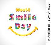 world smile day festive... | Shutterstock .eps vector #1194093628