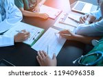 medical team having a meeting... | Shutterstock . vector #1194096358
