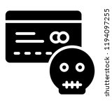 a credit card with the threat... | Shutterstock .eps vector #1194097255