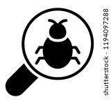 a magnifier with bug... | Shutterstock .eps vector #1194097288