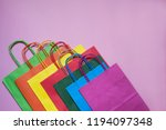 group of colorful shopping bags ... | Shutterstock . vector #1194097348