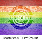 obsolete emblem on mosaic... | Shutterstock .eps vector #1194098605