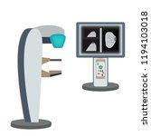 screen mammograph. mammography. ... | Shutterstock .eps vector #1194103018
