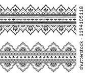 set of seamless borders for... | Shutterstock .eps vector #1194105118