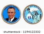 lyndon b. johnson presidential... | Shutterstock . vector #1194122332