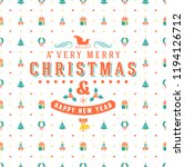merry christmas and happy new... | Shutterstock .eps vector #1194126712