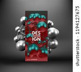 molecule. 3d concept... | Shutterstock .eps vector #1194127675