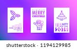 merry christmas and happy new... | Shutterstock .eps vector #1194129985