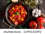 traditional hungarian dish  ... | Shutterstock . vector #1194131092