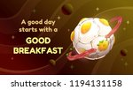 a good day starts with a good... | Shutterstock .eps vector #1194131158