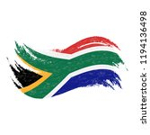 national flag of south africa ... | Shutterstock .eps vector #1194136498