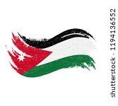 national flag of jordan ...   Shutterstock .eps vector #1194136552