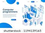 modern isometric design concept ... | Shutterstock .eps vector #1194139165
