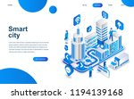 modern isometric design concept ... | Shutterstock .eps vector #1194139168