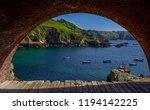 saints bay harbour  a beautiful ... | Shutterstock . vector #1194142225