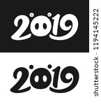 new year 2019 greeting card... | Shutterstock .eps vector #1194145222