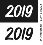 new year 2019 greeting card... | Shutterstock .eps vector #1194145225