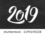 happy new year 2019 greeting... | Shutterstock .eps vector #1194145228