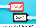 change and same written on... | Shutterstock . vector #1194149485