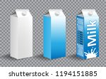 set of realistic milk carton... | Shutterstock .eps vector #1194151885