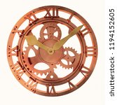 3d Rendering Clock Steampunk...