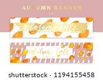 trendy and elegant autumn... | Shutterstock .eps vector #1194155458