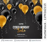 cyber monday sale background... | Shutterstock .eps vector #1194162115