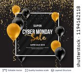 cyber monday sale background... | Shutterstock .eps vector #1194162118