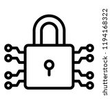 a padlock with nodes and locked ... | Shutterstock .eps vector #1194168322