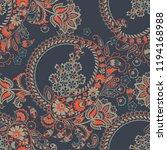 paisley ornamental seamless... | Shutterstock .eps vector #1194168988