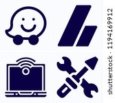 simple set of 4 icons related... | Shutterstock .eps vector #1194169912