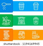 simple set of  9 outline icons... | Shutterstock .eps vector #1194169945
