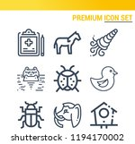 simple set of  9 outline icons... | Shutterstock .eps vector #1194170002