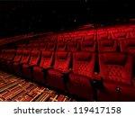 red arm chair in dark theater | Shutterstock . vector #119417158