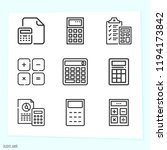simple set of 9 icons related... | Shutterstock .eps vector #1194173842