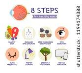 8 steps for healthy eyes.... | Shutterstock .eps vector #1194174388