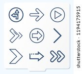 simple set of 9 icons related... | Shutterstock .eps vector #1194175915