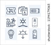 simple set of 9 icons related... | Shutterstock .eps vector #1194179365