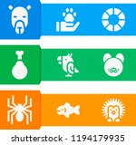 simple set of  9 filled icons... | Shutterstock .eps vector #1194179935
