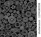 vector seamless pattern with... | Shutterstock .eps vector #1194180538